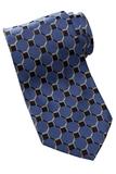 Men's Silk Honeycomb Tie French Blue Thumbnail