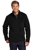 Cozy 1/4-Zip Fleece Black Thumbnail