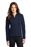 Women's Eddie Bauer Full-zip Microfleece Jacket Navy Thumbnail
