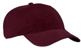 Brushed Twill Low Profile Cap Maroon Thumbnail