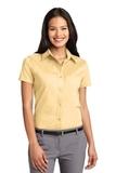 Women's Short Sleeve Easy Care Shirt Yellow Thumbnail