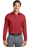 Nike Golf Shirt Long Sleeve Dri-FIT Stretch Tech Polo Varsity Red Thumbnail