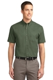 Short Sleeve Easy Care Shirt Clover Green Thumbnail
