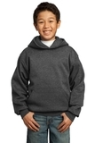 Youth Pullover Hooded Sweatshirt Dark Heather Grey Thumbnail