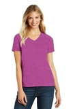 Women's Made Perfect Blend V-Neck Tee Heathered Pink Raspberry Thumbnail