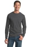 Moisture Management 50/50 Cotton / Poly Long Sleeve T-shirt Black Heather Thumbnail