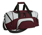Improved Colorblock Small Sport Duffel Maroon with Grey Thumbnail