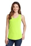 Women's 5.4 oz. 100 Cotton Tank Top Neon Yellow Thumbnail