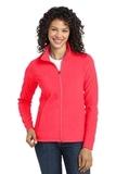 Women's Microfleece Jacket Hot Coral Thumbnail