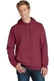 Beach Wash Garment-Dyed Pullover Hooded Sweatshirt Merlot Thumbnail
