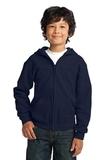 Youth Heavy Blend Full-zip Hooded Sweatshirt Navy Thumbnail