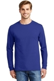 Tagless 100 Comfortsoft Cotton Long Sleeve T-shirt Deep Royal Thumbnail