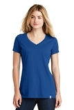 Women's New Era Heritage Blend VNeck Tee Royal Thumbnail