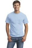 Ultra Cotton 100 Cotton T-shirt With Pocket Light Blue Thumbnail