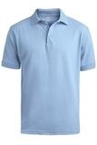 Men's Short Sleeve Soft Touch Blended Pique Polo Blue Thumbnail