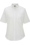 Women's Dress Button Down Oxford SS White Thumbnail