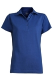 Women's Short Sleeve Blended Pique Polo Royal Thumbnail