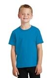 Youth 5.5-oz 100 Cotton T-shirt Sapphire Thumbnail