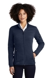 Women's Eddie Bauer Sweater Fleece Full-Zip River Blue Navy Heather Thumbnail