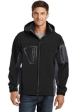 Waterproof Soft Shell Jacket Black with Graphite Thumbnail