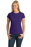 Women's Softstyle Ring Spun Cotton T-shirt Purple Thumbnail