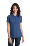 Women's Stretch Pique Polo Moonlight Blue Thumbnail