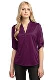 Women's OGIO Crush Henley Purple Luxe Thumbnail