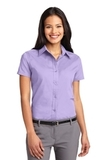 Women's Short Sleeve Easy Care Shirt Bright Lavender Thumbnail