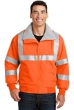 Safety Challenger Jacket With Reflective Taping Safety Orange with Reflective Thumbnail