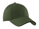 Sandwich Bill Cap With Striped Closure Olive with Black Thumbnail