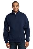 1/4-zip Cadet Collar Sweatshirt Navy Thumbnail