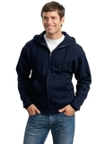 Super Sweats Full-zip Hooded Sweatshirt Navy Thumbnail