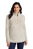 Ladies Cozy 1/4-Zip Fleece Oatmeal Heather Thumbnail