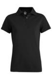 Women's Short Sleeve Blended Pique Polo Black Thumbnail