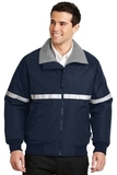 Challenger Jacket With Reflective Taping True Navy with Grey Heather and Reflective Thumbnail