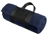 Fleece Blanket With Carrying Strap True Navy Thumbnail