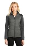 Women's Hybrid Soft Shell Jacket Smoke Grey with Grey Steel Thumbnail