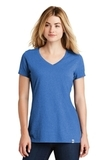 Screenprinted Women's New Era Heritage Blend VNeck Tee Royal Heather Thumbnail