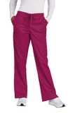 WonderWink Women's Tall WorkFlex Flare Leg Cargo Pant Wine Thumbnail