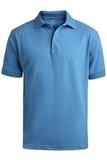 Men's Short Sleeve Soft Touch Blended Pique Polo Marina Blue Thumbnail
