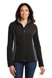 Women's Colorblock Value Fleece Jacket Black with Battleship Grey Thumbnail