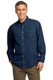 Long Sleeve Value Denim Shirt Ink Blue Thumbnail