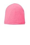 Fleece-Lined Beanie Cap Neon Pink Glo Thumbnail