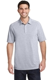 Port Authority Digi Heather Performance Polo Light Grey Thumbnail
