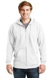 Ultimate Cotton Full-zip Hooded Sweatshirt White Thumbnail