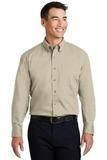 Long Sleeve Twill Shirt Stone Thumbnail