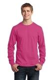 Long Sleeve 5.4-oz. 100 Cotton T-shirt Sangria Thumbnail