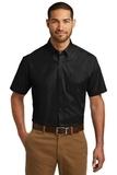 Short Sleeve Carefree Poplin Shirt Deep Black Thumbnail