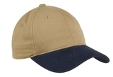 2-tone Brushed Twill Cap Khaki with Navy Thumbnail