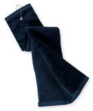Grommeted Tri-fold Golf Towel Navy Thumbnail